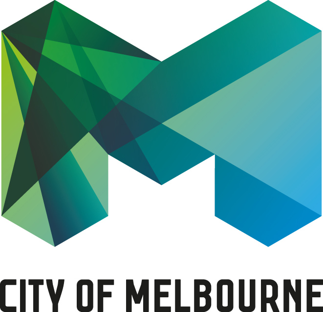 City of Melbourne logo stacked