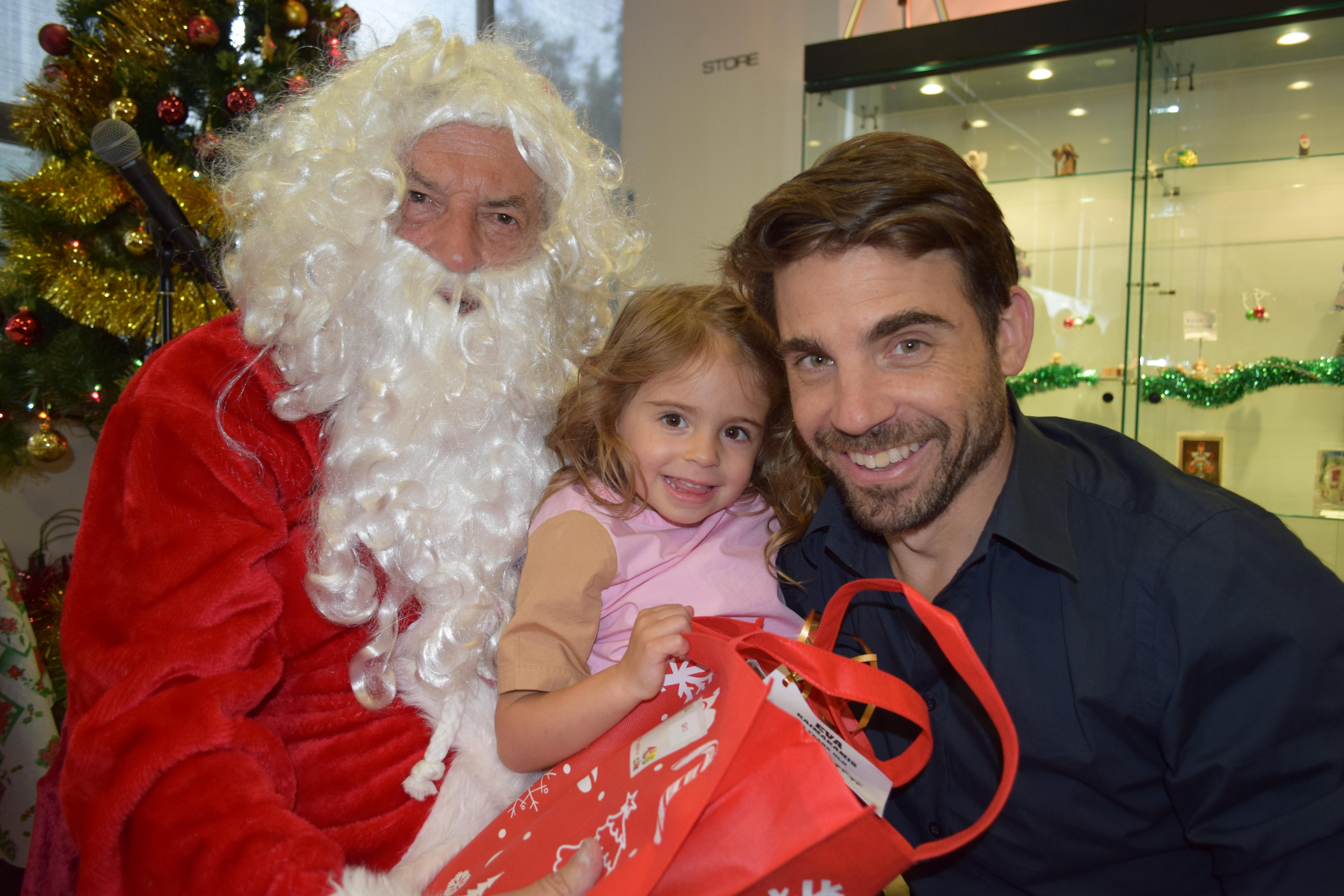 Children delighted by the entertainment at this year's Chidren's Christmas Party